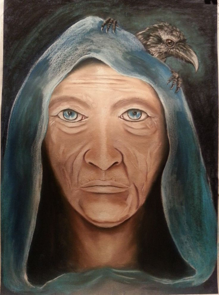"""Pastel on paper - 75cm x 55cm """"Oracle Of Past Lives"""" For sale"""