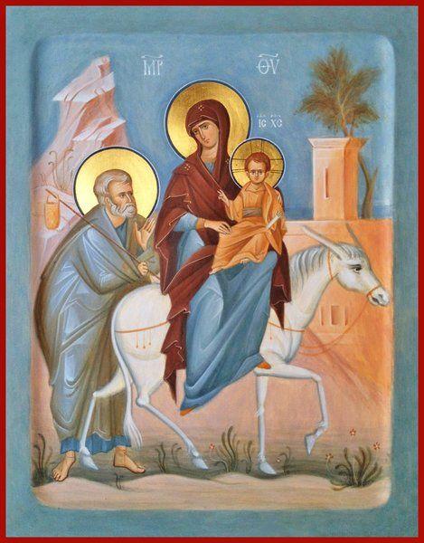 Flight to Egypt Orthodox icon
