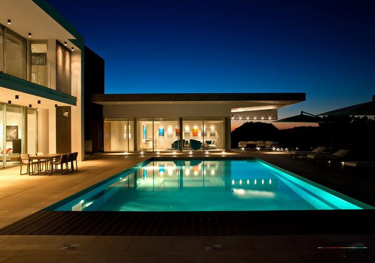 Comfort Patio In A Beautiful Villa By The Pool Side With Romantic Lighting Neoteric Beautiful Villas, Luxury and Comfort Style for the Perfect Residential Home design http://seekayem.com