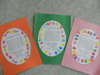Jellybean Prayer (finger painting fun!)