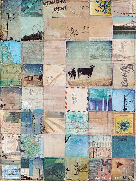 American West, envelope collage by maechevrette http://www.etsy.com/shop/maechevrette #collage #art #crafts #papers
