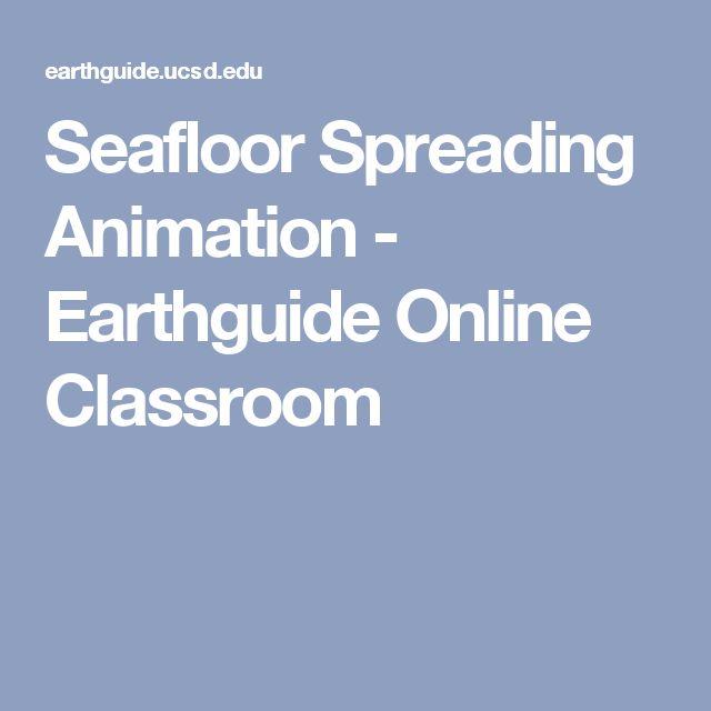Seafloor Spreading Animation   Earthguide Online Classroom