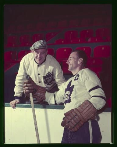 King Clancy and Ted Kennedy, 1953.