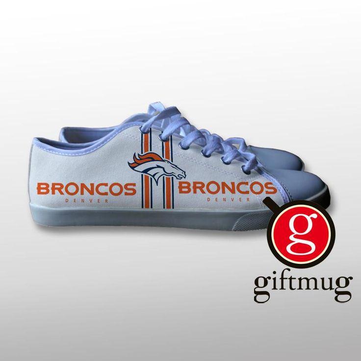 Denver Broncos Canvas Shoes #shoes #denver #broncos #canvas #gift