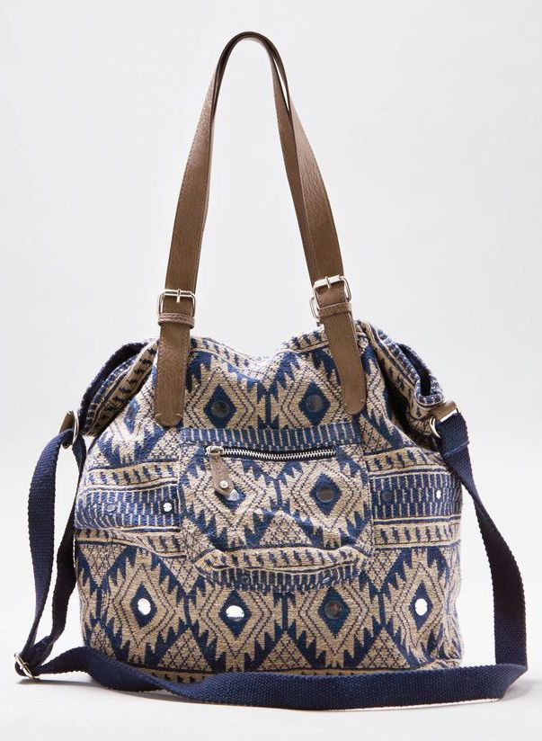 Indigo AEO Jacquard Tote- cute to carry my things to work :)
