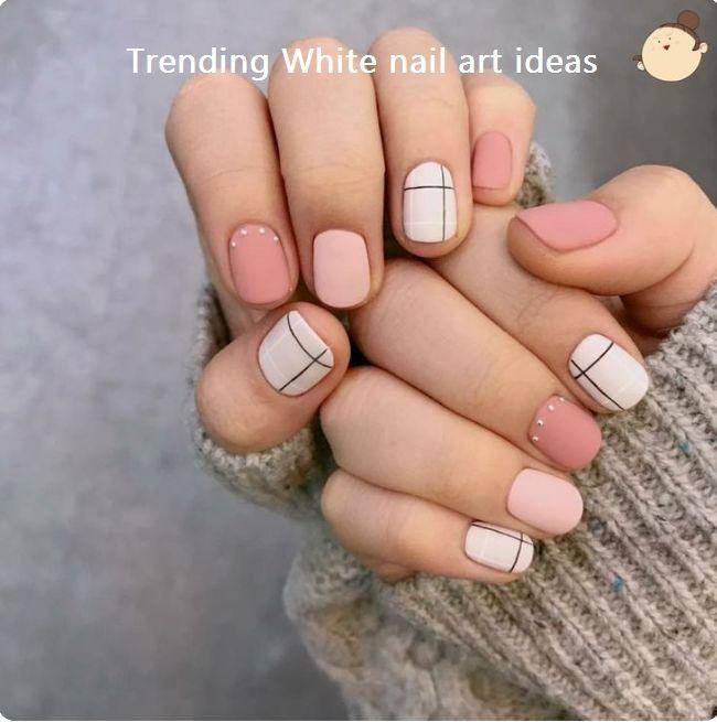 30 Simple Trending White Nail Design Ideas Naildesign Cute