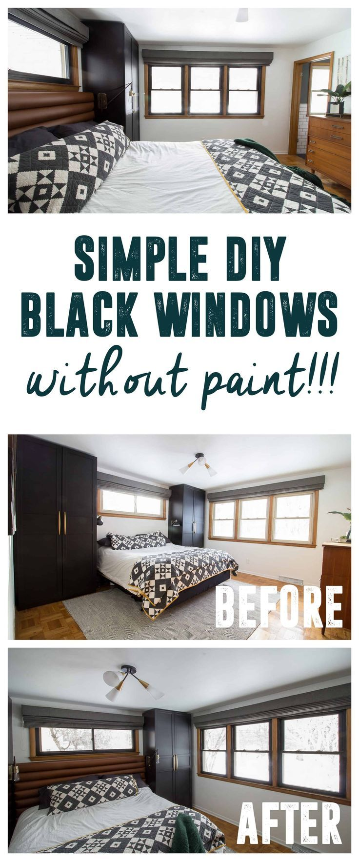 Diy Black Windows Without Painting Or Replacing Creative