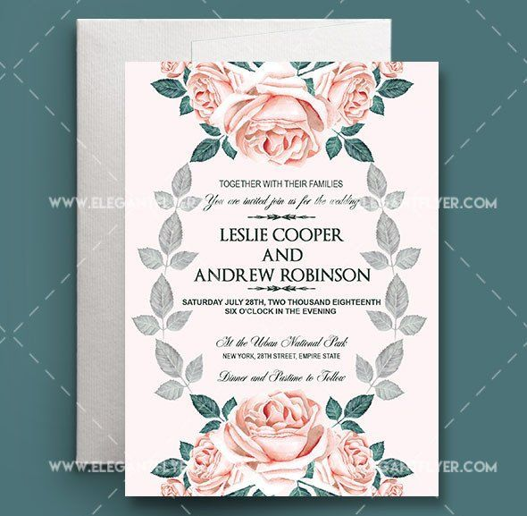 Wedding Invitations Photoshop Template 75 Free Must Have In 2020 Wedding Invitation Templates Free Wedding Invitation Templates Wedding Invitations Printable Templates
