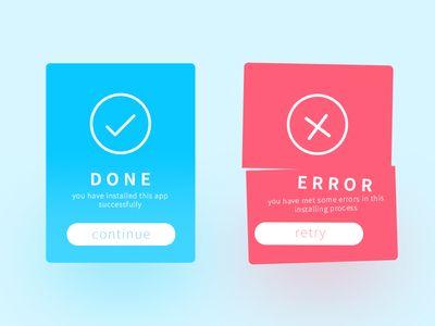 Daily UI #005 Flash Message (Error/Success)