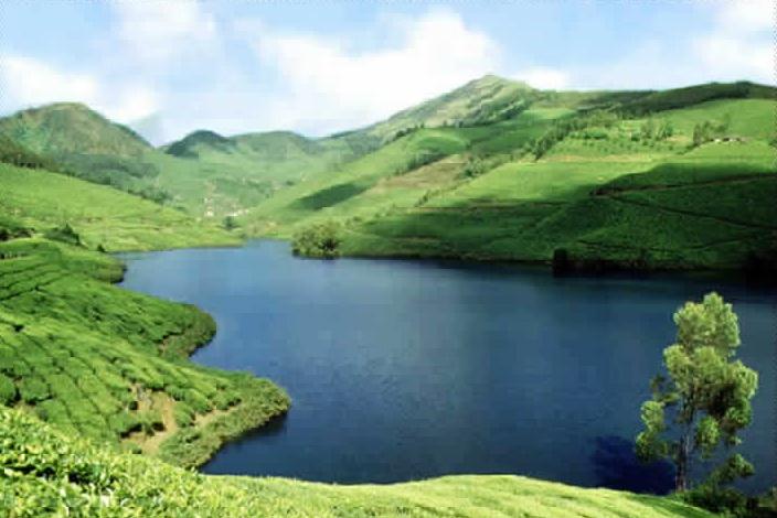 Mattupetty Lake, Idukki, Munnar, Kerala, India.