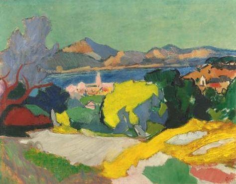 Wim Oepts (Dutch, 1904 - 1988) A VIEW OF SAINT TROPEZ, FRANCE