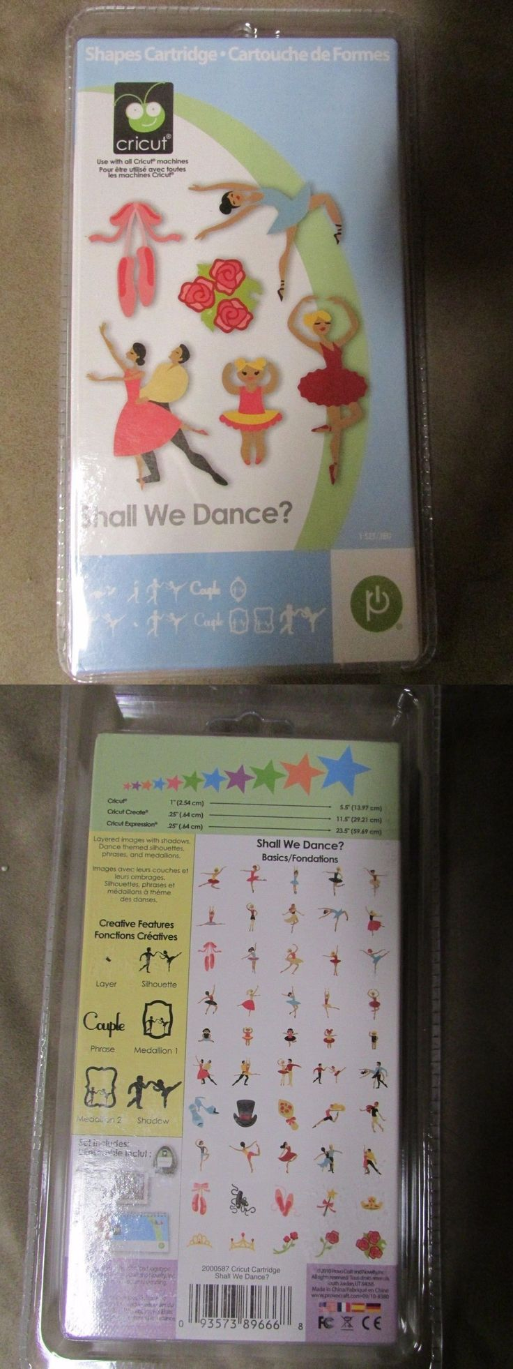 Die Cut and Embossing Machines 113344: Provo Craft, Cricut Cartridge, Shall We Dance, New In Package! Rare! -> BUY IT NOW ONLY: $99.99 on eBay!