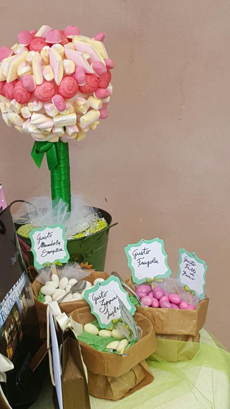 Come è bella la mini confettata organizzata per la comunione di Giadina....