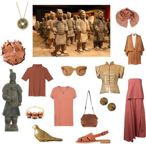 терракотовая армия by yaninatsybulskaya on Polyvore Направление в одежде