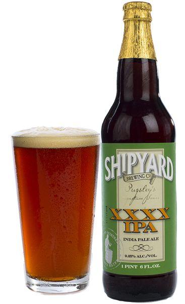 Cerveja Shipyard Pugsley's Signature XXXX IPA, estilo Imperial / Double IPA, produzida por Shipyard Brewing Company, Estados Unidos. 9.25% ABV de álcool.