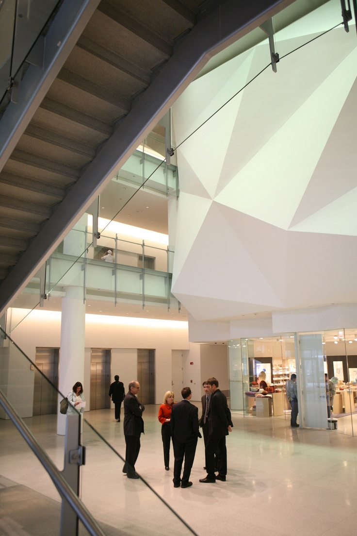 Lobby of Spertus Institute, Chicago, photo by Jeremy Lawson, http://www.spertus.edu/about/architecture