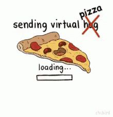 Virtual Hug Pizza GIF - VirtualHug VirtualPizza SendingPizza - Discover & Share GIFs