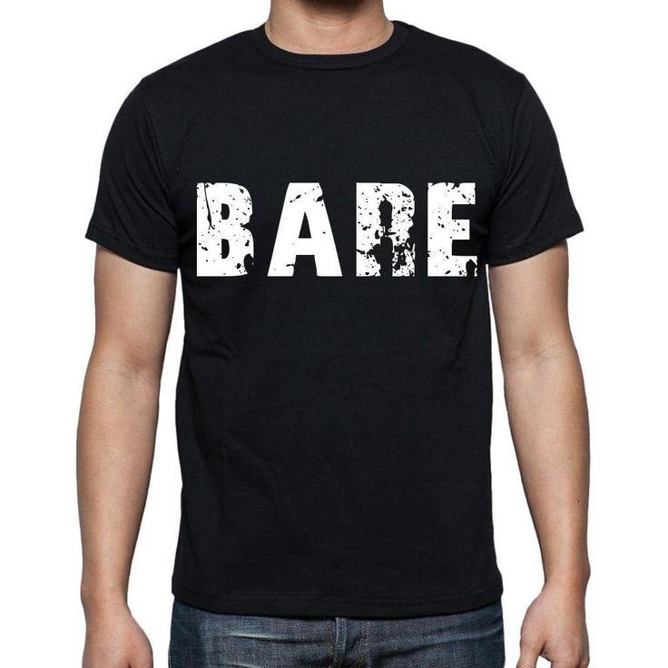 bare Men's Short Sleeve Rounded Neck T-shirt , Black T-shirt EN