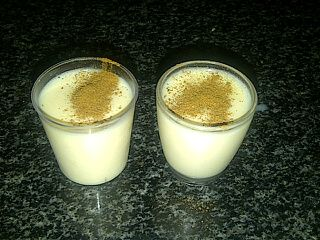 Melktertjies (Milk Tart Shots) -  for the desserts to go around after the braai - idea???