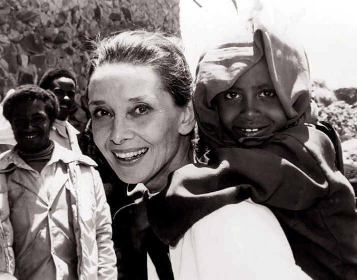 Did You Know the Amazing Audrey Hepburn Was a Goodwill Ambassador for UNICEF? Look at How Happy She Was to Make a Difference in the Poorest of Peoples Lives. - Album on Imgur