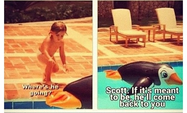 """If it's meant to be, he'll come back to you"" Lord Disick #KUWTK #kardashians lolololol"