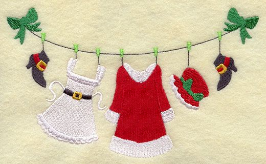 Mrs. Claus Clothesline
