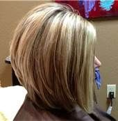 Long Wedge Haircut Back View