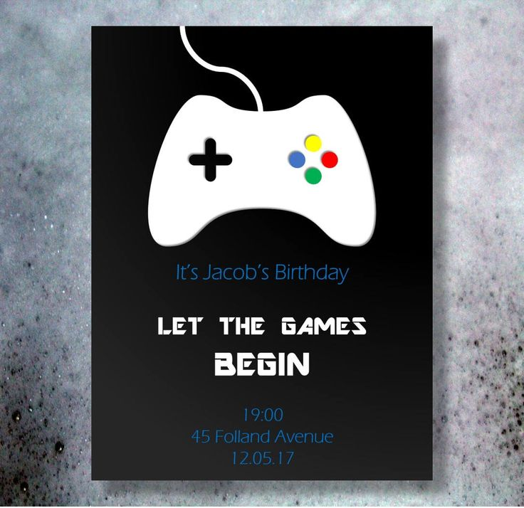 Teenage boy birthday party invitation/joystick invitation/ game control invitation/gaming party invitation/teen invitation/teen birthday by GROWaPEARcreations on Etsy https://www.etsy.com/listing/540928777/teenage-boy-birthday-party