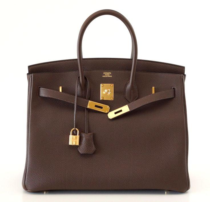 Hermes Väskor I Sverige : Hermes birkin bag cacao gold hardware handbags