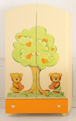 armadio Cuore panna/arancio #baby #crib #cot