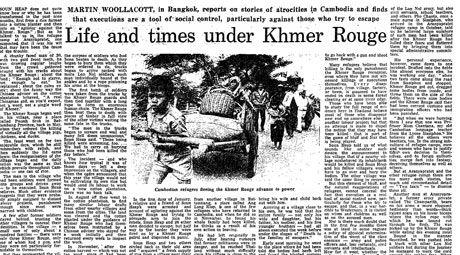 Quando, em 17 de Abril de 1975, os Khmers vermelhos entraram em Phnom Penh, foram recebidos como libertadores da pátria e depositantes da esperança de uma população farta de sofrimento e guerra. Mas as intenções do partido liderado por Pol Pot, educado em Paris na tradição marxista-leninista e inspirado na revolução maoista, eram outras… Nos …
