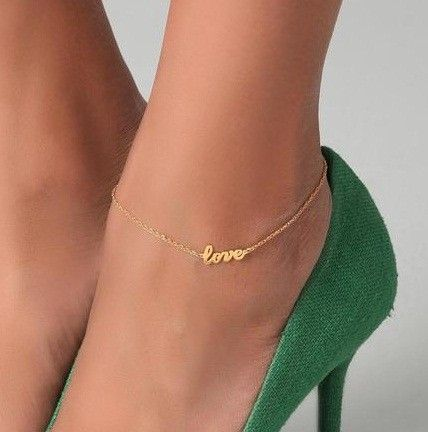 Love this...ankle chains worn w/ dressy shoes should be delicate and an accessory to the shoes, not the focus.