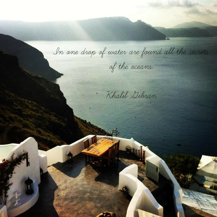 Ocean inspirational quotes, Andronis Luxury Suites, Oia , Santorini