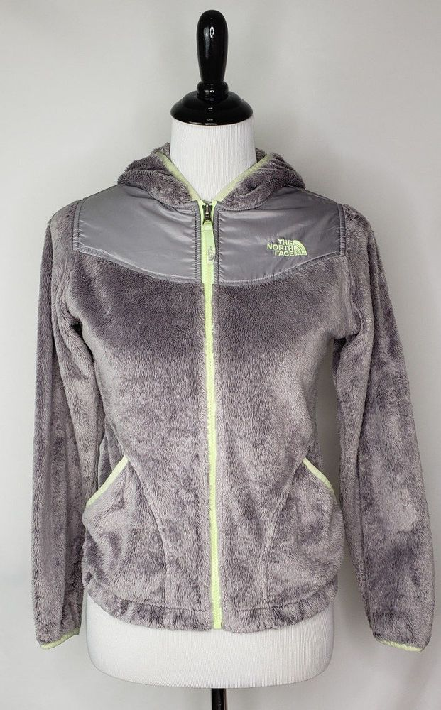 f1a6772c870a The North Face Girls Sz Large 14-16 Gray Lt Green Fleece Zip -up Hooded  Jacket  TheNorthFace  FleeceJacket  Everyday