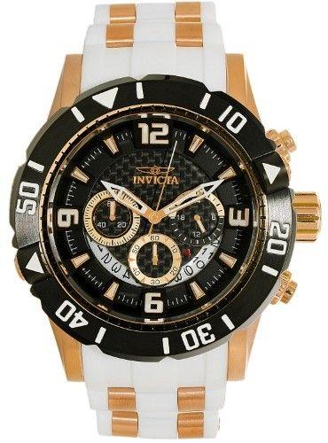 Invicta Men's Pro Diver 23701 Gold Silicone Quartz Diving Watch