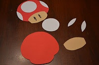 DIY Mario Party mushroom cut out More