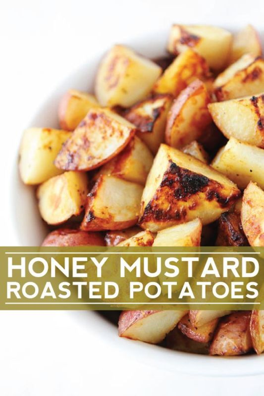 Honey Mustard Roasted Potatoes-these easy potatoes go great with any meal!