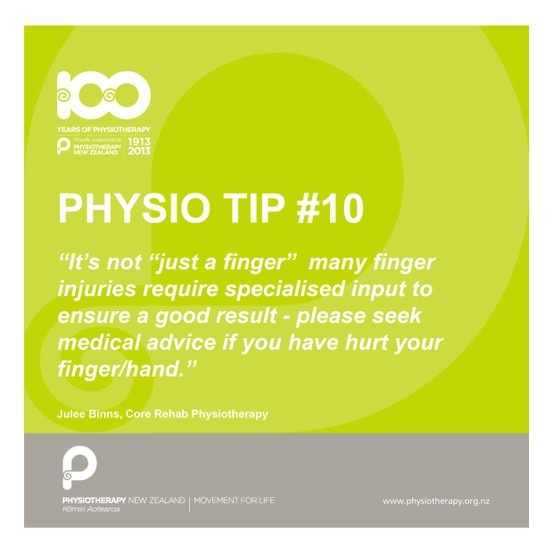 It's not just a finger #physiotips #100years