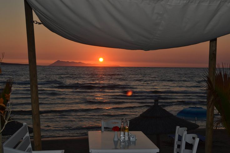 """What a dramatic #sunset behind the island of """"Othonoi""""...."""