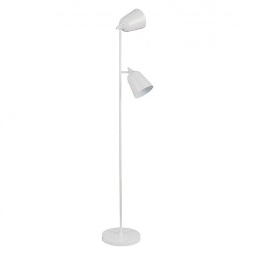 Double White Metal 2 Light Floor Lamp In 2020 With Images White Floor Lamp Floor Lamp