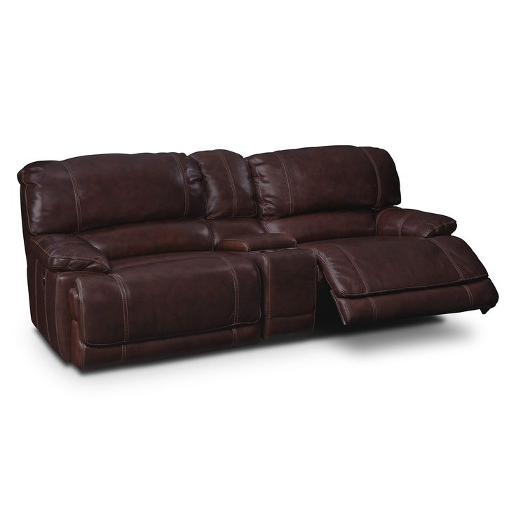 best Reclining Console Sofas  on Pinterest