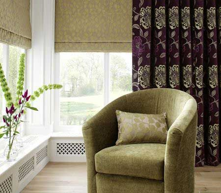 Clarke & Clarke Firenze Violet Curtains - Summer Inspiration #florals