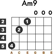 Learn how to Play the Am9 Guitar Chord