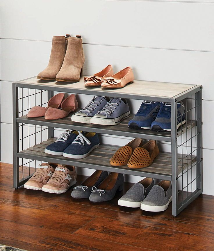 Modern Farmhouse 3 Tier Shoe Rack Closet Organization Farmhouse Metal Shoe Rack Shoe Rack Closet Shoe Rack Walmart