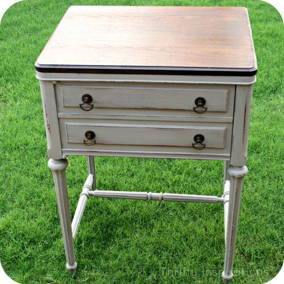 French Linen Sewing Cabinet Livingroom Pinterest