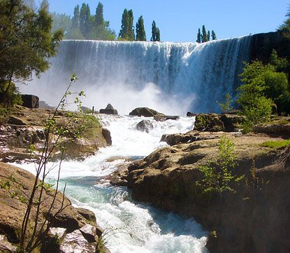 Located in Chile's Bío-Bío region, between Los Angeles and Chillán, the Salto del Laja, or Laja Falls, is a set of four waterfalls along Chile's Laja River. This popular tourist attraction offers a variety of viewing options and many types of tours and other activities.
