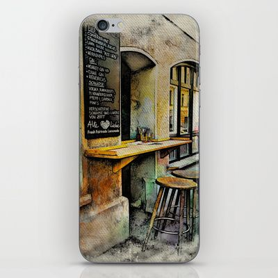 Cafe Stools iPhone & iPod Skin by AngelEowyn - $15.00