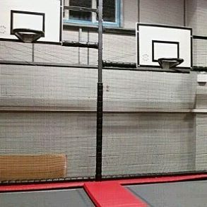 Show off your basketball skills on our trampolines 🏀👍 #trampoline #basketball #trampolining #jump #family #familyfun #activity #slamdunk #layup #dodgeball #softplay #exercise #kids #toddlers #teens