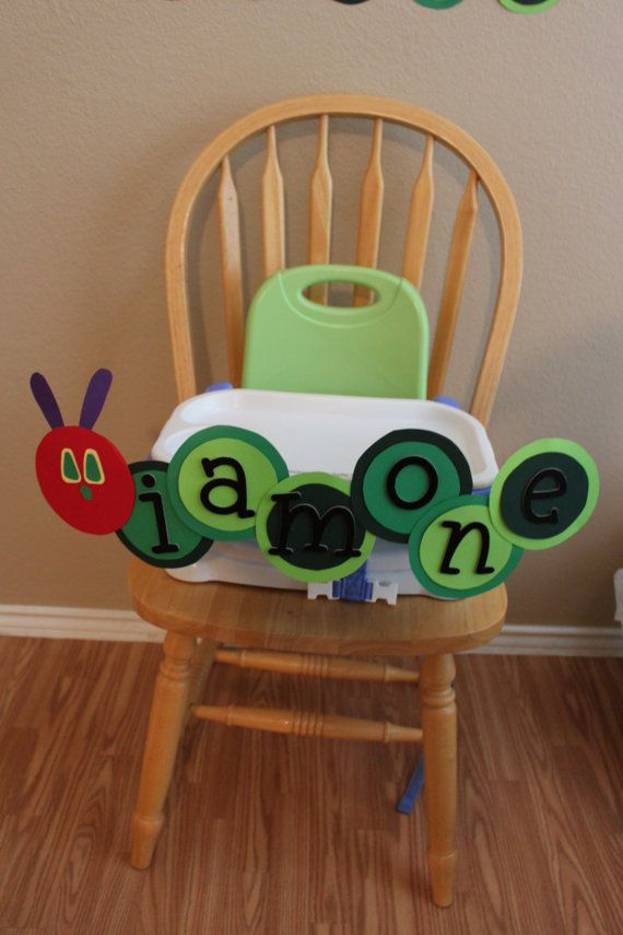 """The Very Hungry Caterpillar """"I am one"""" Banner on Etsy, $16.00"""