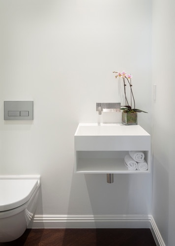 Super space saver powder room but where 39 s the mirror for Super small bathroom